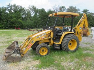 2000 John Deere 110 Loader Backhoe,  4x4,  2162 Hours,  Great Running,  Just Service photo
