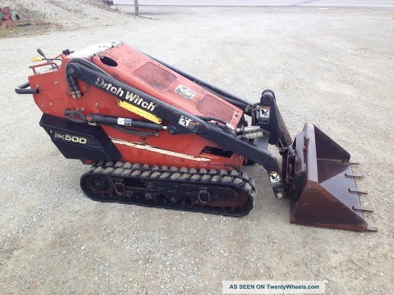 Ditch Witch Sk500 Walk Behind Skid Steer Loader Rubber