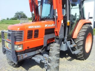 Kioti Enclosed Cab Tractor,  Loader,  Backhoe,  Dk65,  Diesel,  4x4,  Heat,  Ac,  Ship photo