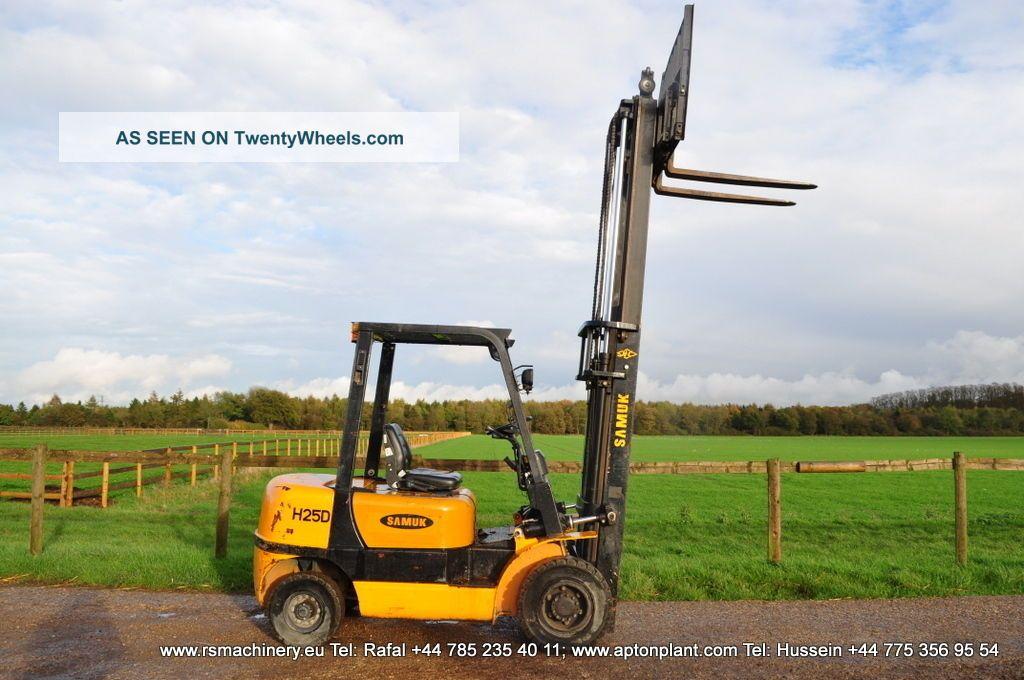 diesel forklift samuk h25d 2007y duplex 2 5 t sideshift. Black Bedroom Furniture Sets. Home Design Ideas