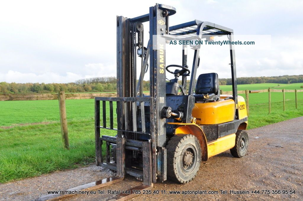 diesel forklift samuk h25d 2007y duplex 2 5 t sideshift. Black Bedroom Furniture Sets. Home Design Ideas