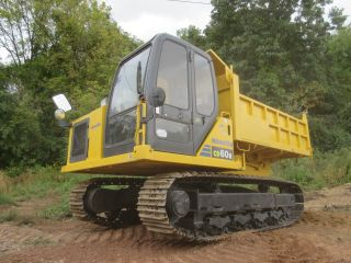 Komatsu Cd60r Track Dump Truck13200 Lb Capacity,  Steel Tracks,  360 Degree Rotate photo