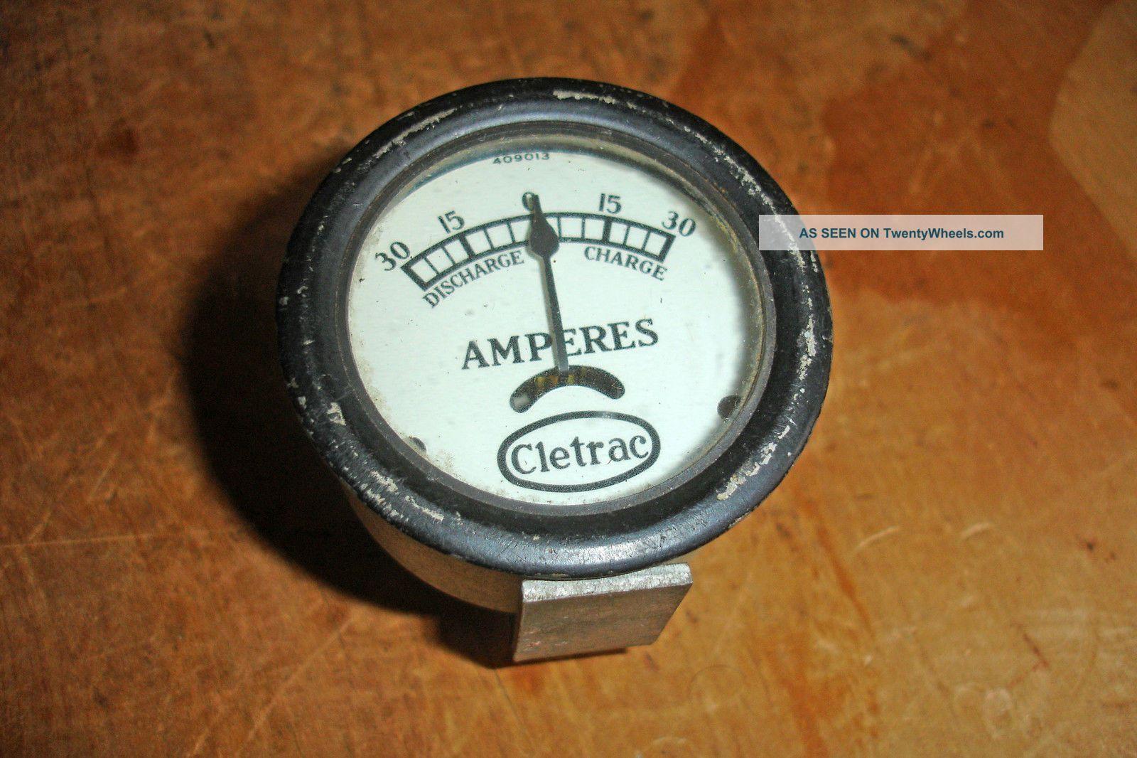 Nos Rare Vintage Cletrac Crawler Amp Gauge Oliver Oc3 Dd Hg Hgr A B D 30 Tractor Uncategorized photo