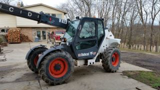 Bobcat 623 Telehandler Versahandler Loader Snowplow Skidsteer photo
