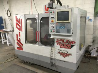 Haas 1998 Vf - 0e Cnc Vertical Machining Center Mill Rigid Tap 4th Axis Pre - Wire photo
