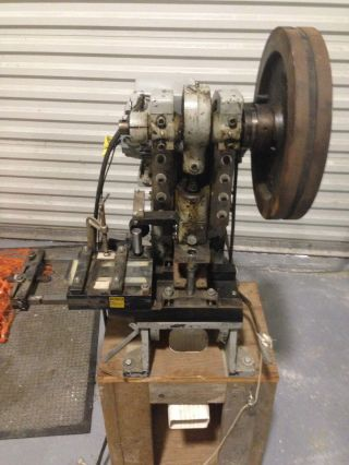 Alva Allen Bt - 5 5 Ton Punch Press With Pneumatic Feed And Spare Dies photo