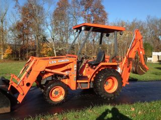 Kubota L35 Commercial Duty Tractor Loader Backhoe,  4x4,  35 Hp,  270 Hrs,  3pt,  Pto photo