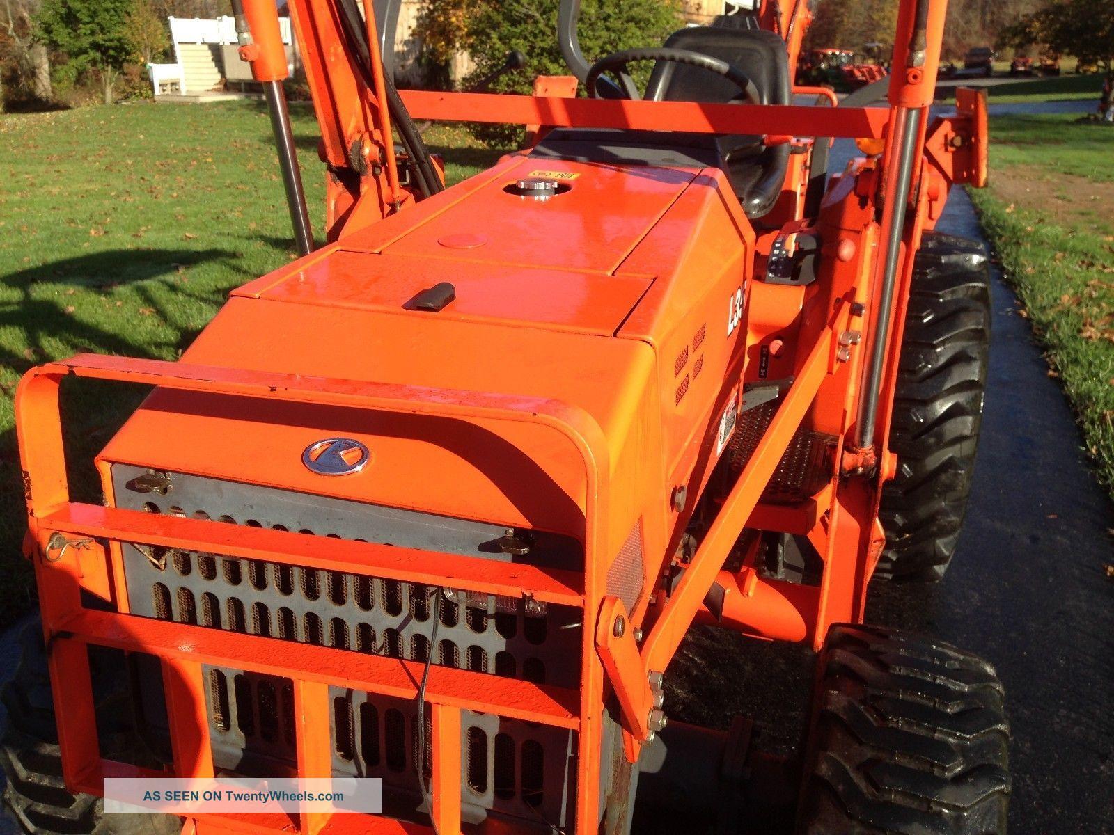 L35 Kubota 3 Point Hitch Pic : Kubota l commercial duty tractor loader backhoe