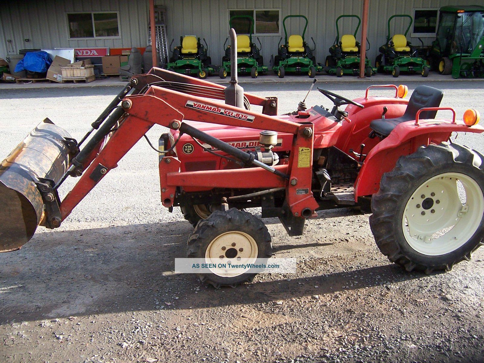 Yanmar Tractor 2 Wheel : Yanmar ym d tractor loader
