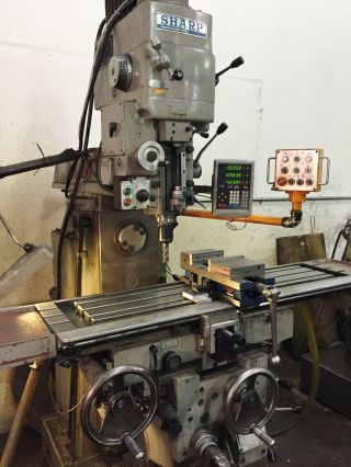 Sharp Mill Vertical/horizontal Milling Machine Model Vh - 3 Digital Readout photo