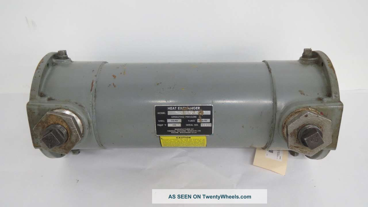 Thermal Transfer B - 1202 - A4 - F Four Pass Fluid Heat Exchanger 2 In B456438 Heating & Cooling Equipment photo