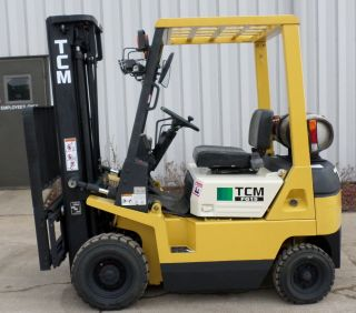 Tcm Model Fg15n17t (1995) 3000lb Capacity Great Lpg Pneumatic Tire Forklift photo