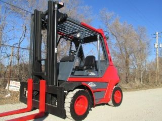 Linde H80 Forklift Lift Truck Hilo Fork,  Dual Pneumatic 17,  500lb Cat Toyota photo
