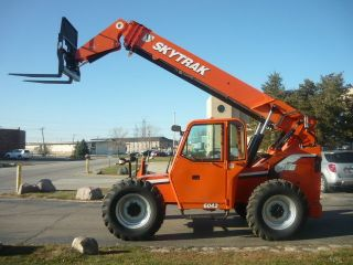 2010 Skytrak Jlg 6042 Telescopic Forklift Telehandler Reach Fork Cummins Turbo photo