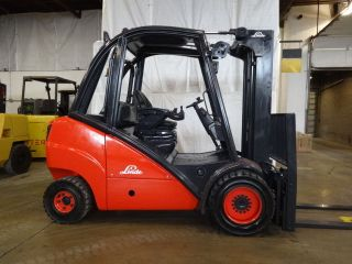 2004 Linde H30d 6000lb Pneumatic Lift Truck W/ Side Shifter Fork Positioner photo
