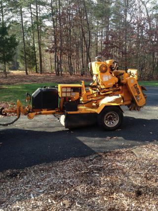 60 Hp Carlton Duetz Diesel Tow Behind Stump Grinder Hours 351 photo