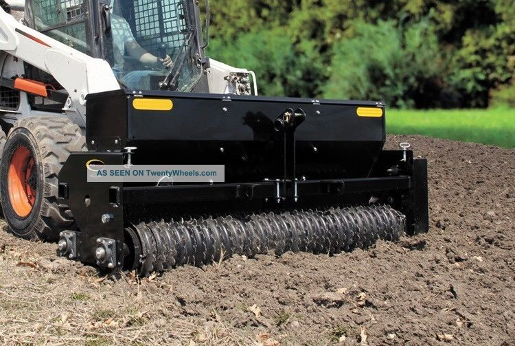 Skid Steer & Tractor Seeder Attachment For Bobcat John Deere