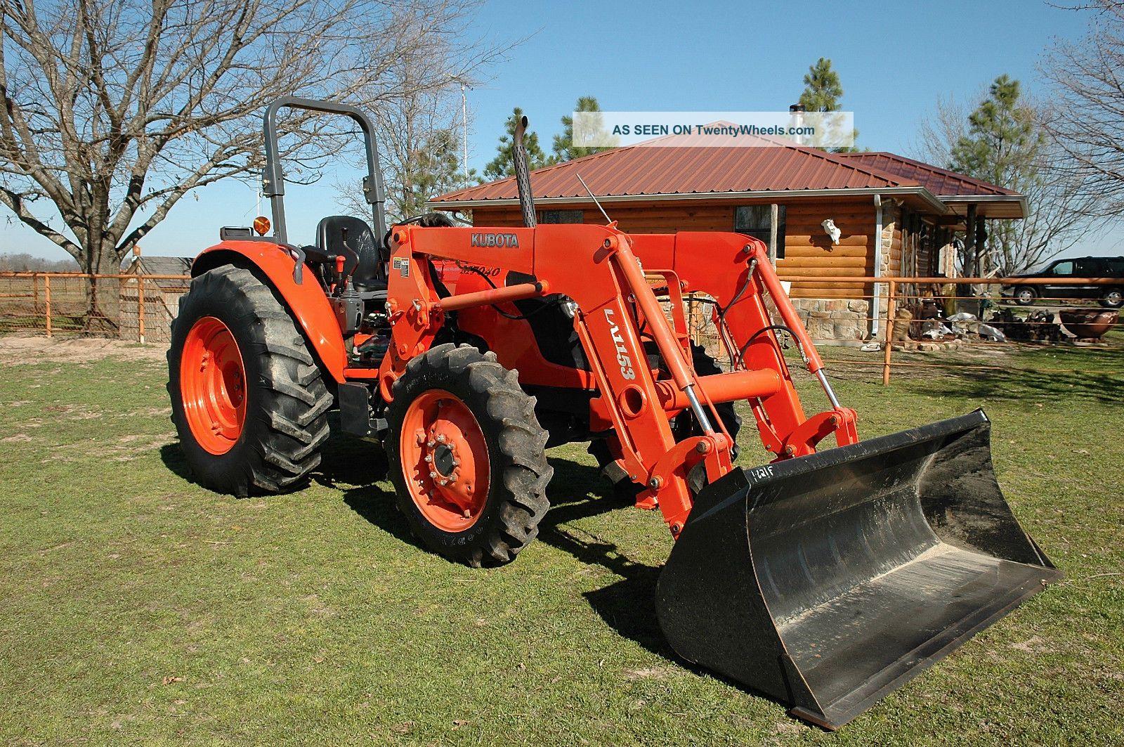 Kubota Tractor Backhoe Buckets : Kubota m dt w loader bucket open ropes