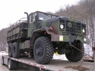 Am General 5 Ton Military Cargo Flatbed Cummins Diesel photo