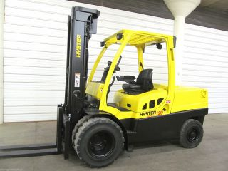 2006 Hyster H120ft,  12,  000 Lb Diesel Forklift,  Three Stage,  4,  155 Hours, photo