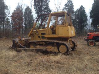 John Deere 750b Dozer Crawler Tractor 750 Diesel W/ Root Rake & Limb Risers photo
