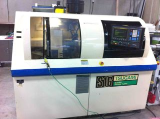 Tsugami S16d Swiss Type Cnc Lathe 1992 - Live Tools,  Sub,  Bar Feed,  Fanuc photo