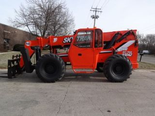 2003 Skytrak 10042 10000lb Telehandler Lift Truck 42 ' Reach 4x4x4 Tires photo