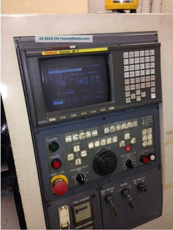 Okuma Howa Act 35 Cnc Lathe Turning Center Fanuc 18t Control