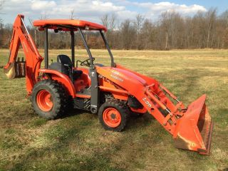 Kubota L39 Commercial Duty Tractor Loader Backhoe,  728 Hrs,  4x4,  Gst, photo