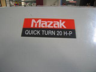 Mazak Quick Turn 20hp Cnc Lathe photo