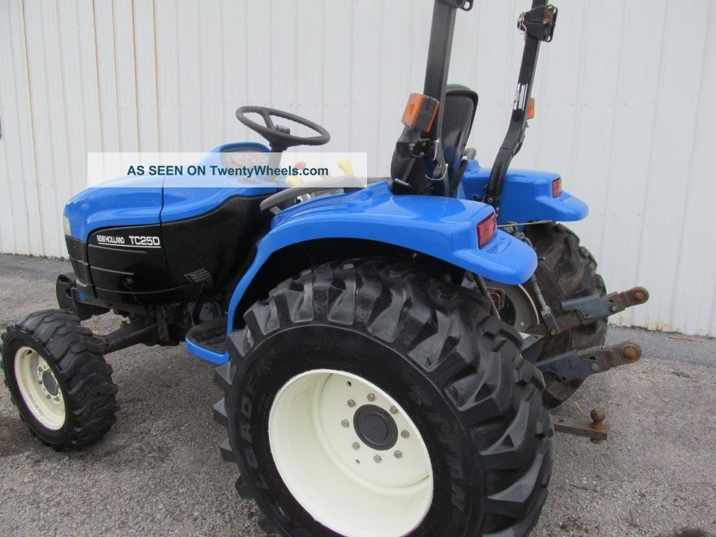 ford holland tc25d diesel farm tractor w 4x4 hydrostatic. Black Bedroom Furniture Sets. Home Design Ideas