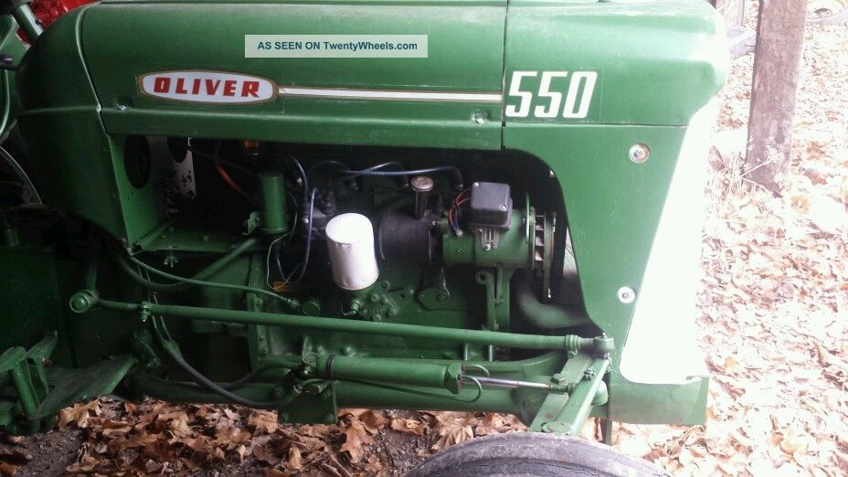 550 Oliver Tractor With Loader : Oliver antique tractor