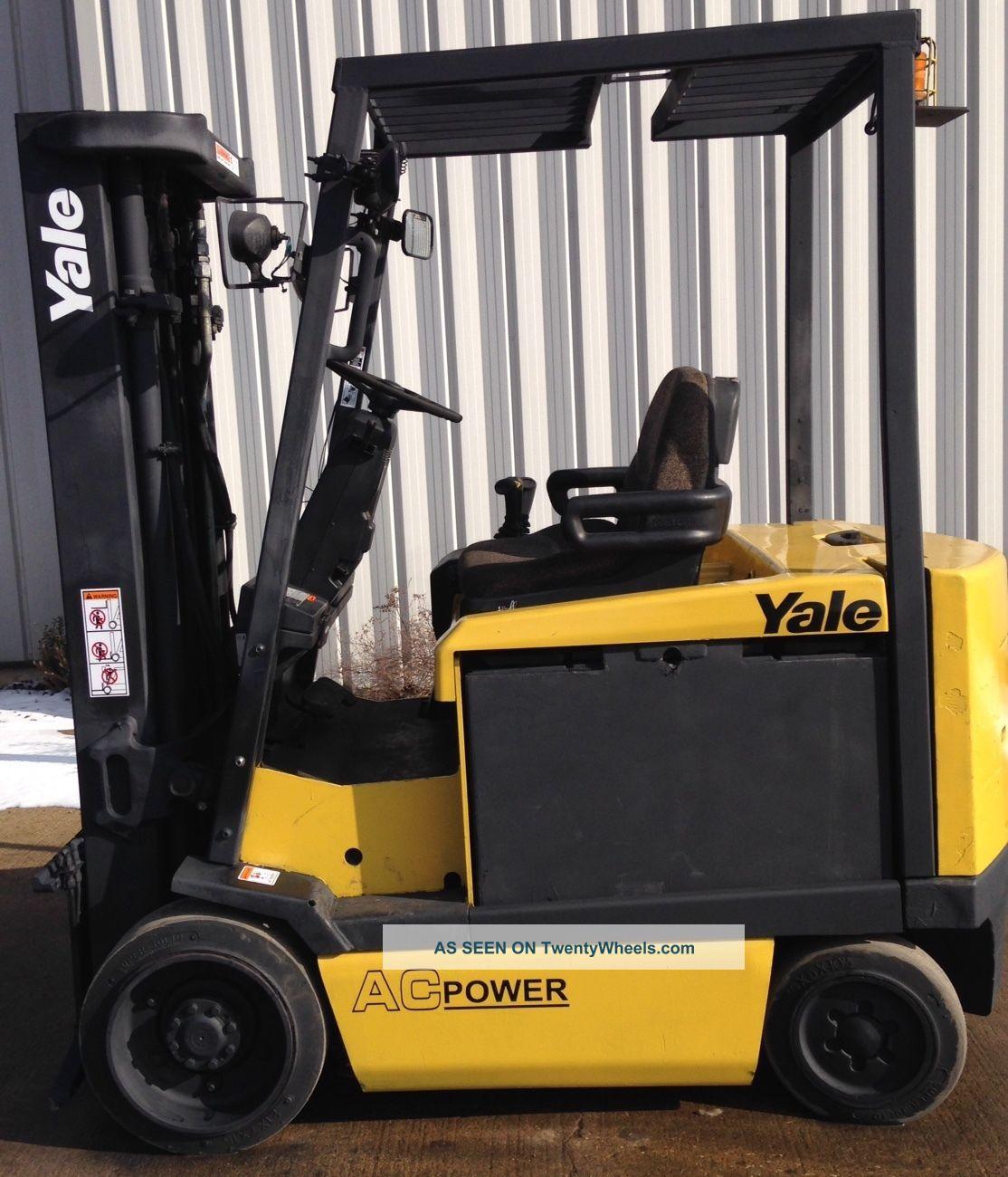 Yale Model Erc060gh (2008) 6000lbs Capacity Great 4 Wheel