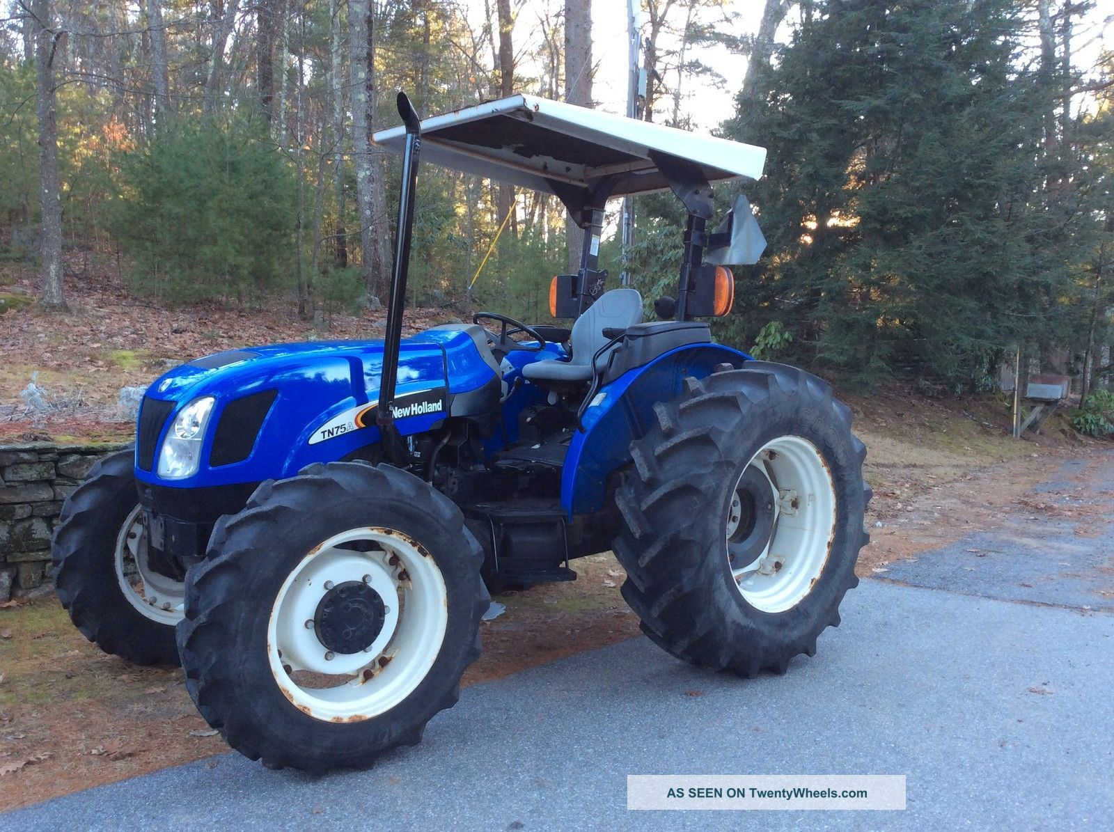 2004 Holland Tn75a 4wd Tractor Only 928 Hours 75hp
