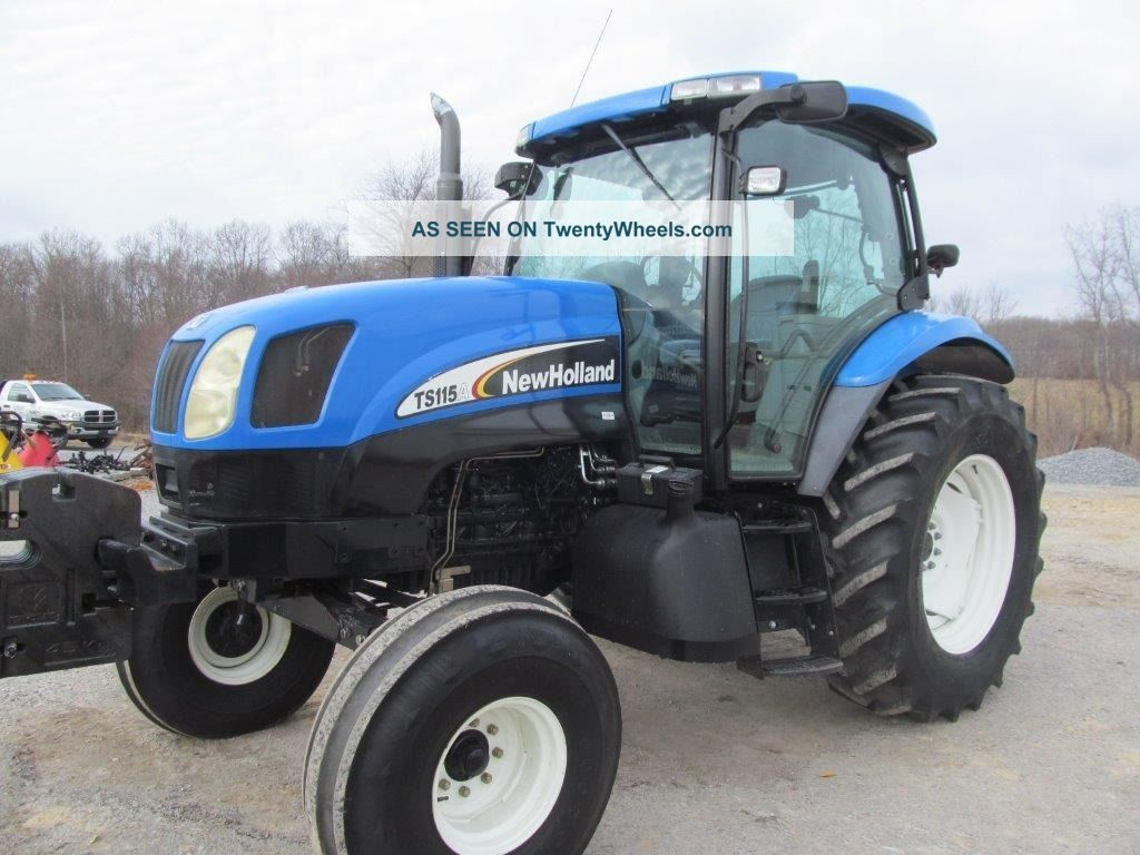 ford holland ts115a diesel farm tractor w cab syncro com transmission. Black Bedroom Furniture Sets. Home Design Ideas