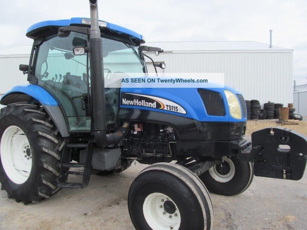 Farm Tractor Transmission : Ford holland ts a diesel farm tractor w cab syncro com
