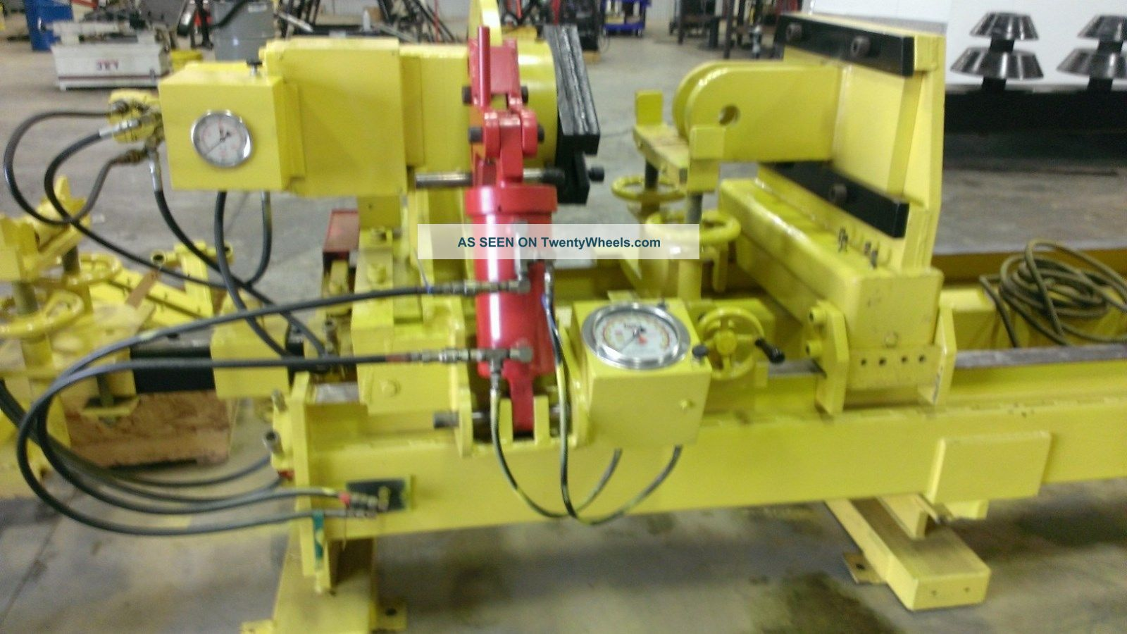 Tuxco Model Hcs - 60 Hydraulic Cylinder Disassembly & Service Machine