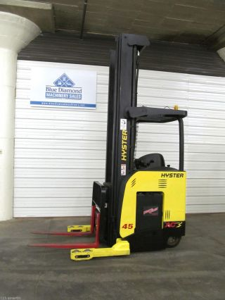 Hyster N45zr 4500 Lb.  Single Reach Electric Forklift,  Crown,  Yale,  S/s,  1,  035 Hr photo