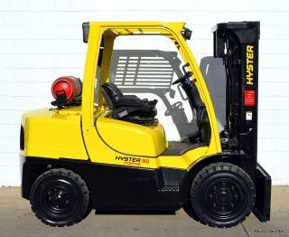 Hyster H80ft Fortis 8000 Lb Lpg Pneumatic Forklift 8,  000 Lb Air Tires photo