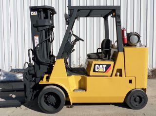 Caterpillar Model Gc55k (2000) 12000lbs Capacity Great Lpg Cushion Tire Forklift photo