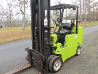 Clark 10,  000 Lb Dual Wheels 1k Hour Model C500 - S100 Lp Fork Lift Truck Forklift photo