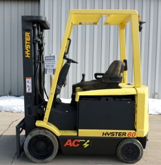 Hyster Model E60z - 33 (2008) 6000lbs Capacity Great 4 Wheel Electric Forklift photo