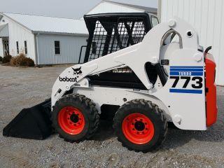 Bobcat 773 G Turbo Skid Steer Loader Tractor Rubber Tire Bob Cat Diesel Engine photo