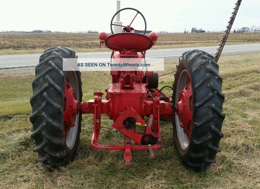 Farmall Sickle Bar Mower : International harvester farmall h tractor ih mccormick