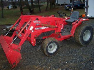 Massey Fergson 1230 Compact Tractor W/ Loader & Mower.  Hydro.  Diesel. photo