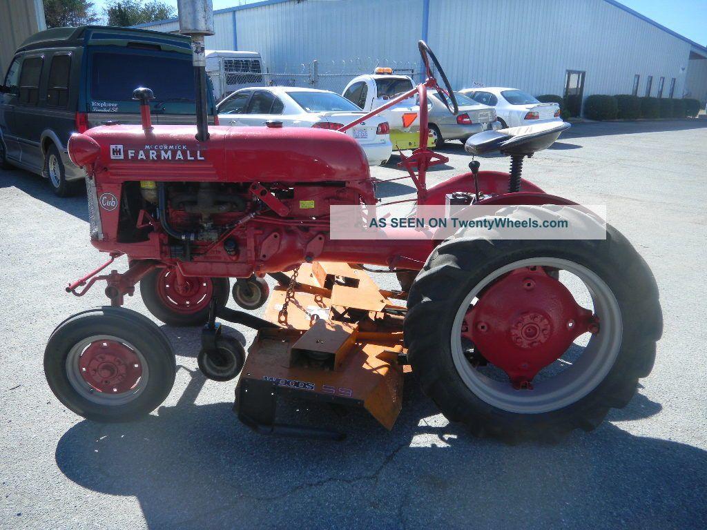 International Cub Parts : International cub tractor woods belly mower deck plow