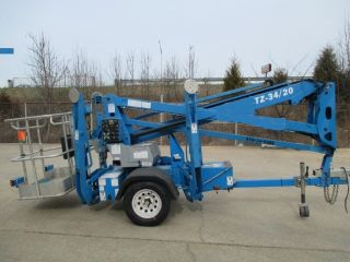 2008 Genie Tz34/20 Towable Boom Jlg/ Biljax / Nifty Lift photo