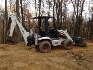 2002 Bobcat B300 Loader Backhoe Skid Steer 4x4x4 photo