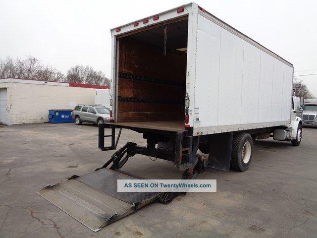 Tractor Lift Gate : Freightliner m  box truck lift gate cat turbo diesel