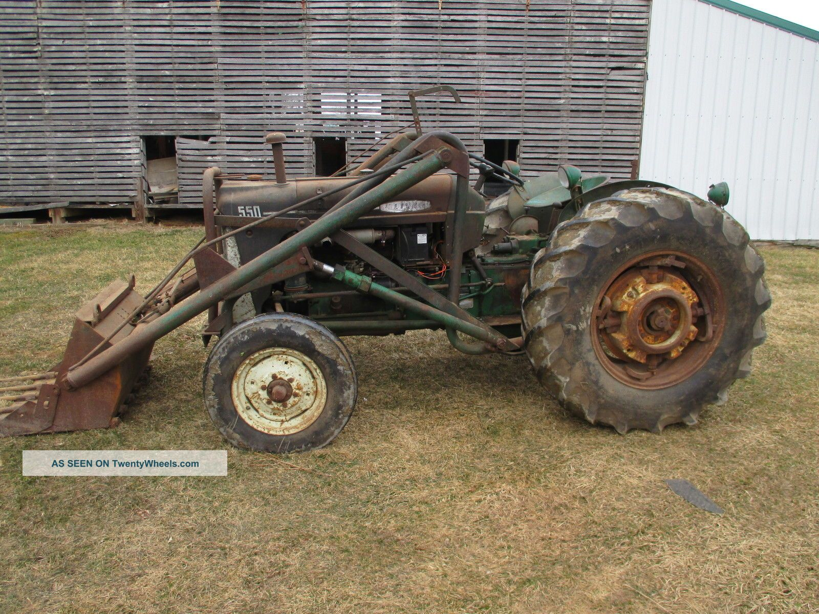 550 Oliver Tractor With Loader : Oliver tractor with power steering and trip bucket loader